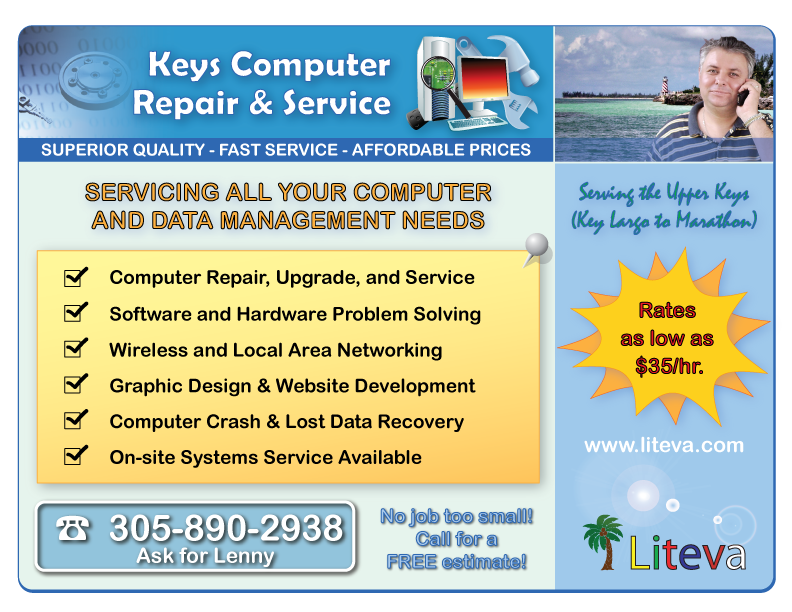 Computer Repair, Upgrade, and Service;  Software and Hardware Problem Solving;  Wireless and Local Area Networking;  Graphic Design & Website Development;  Computer Crash & Lost Data Recovery;  On-site Systems Service Available